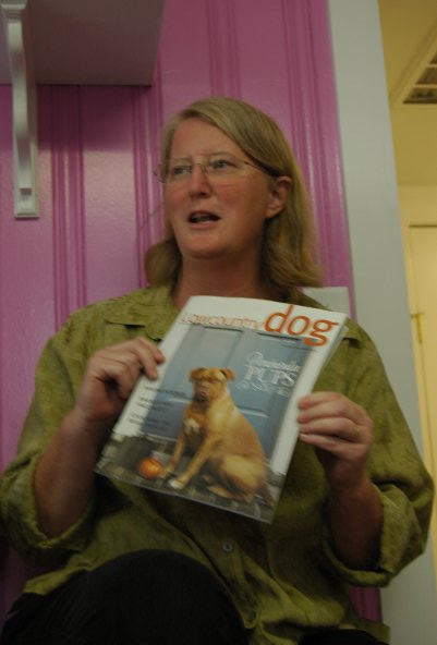 Dr. Ruth mentioning the benefits of reading magazines like Lowcountry Dog magazine
